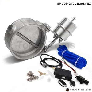 Exhaust Control Valve With Boost Actuator Cutout 102Mm Pipe Close Wireless Remote Controller Set