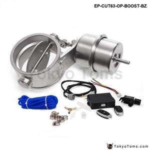 Exhaust Control Valve With Boost Actuator Cutout 2.5 63Mm Pipe Opend Wireless Remote Controller Set