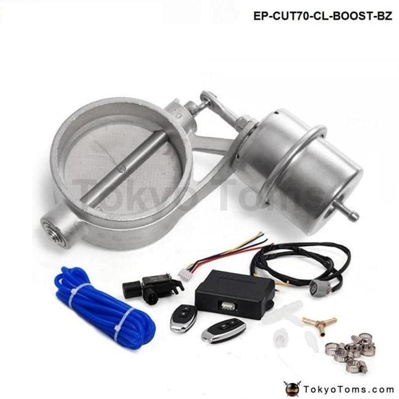Exhaust Control Valve With Boost Actuator Cutout 70Mm Pipe Closed Wireless Remote Controller Set