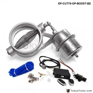 Exhaust Control Valve With Boost Actuator Cutout 70Mm Pipe Opend Wireless Remote Controller Set