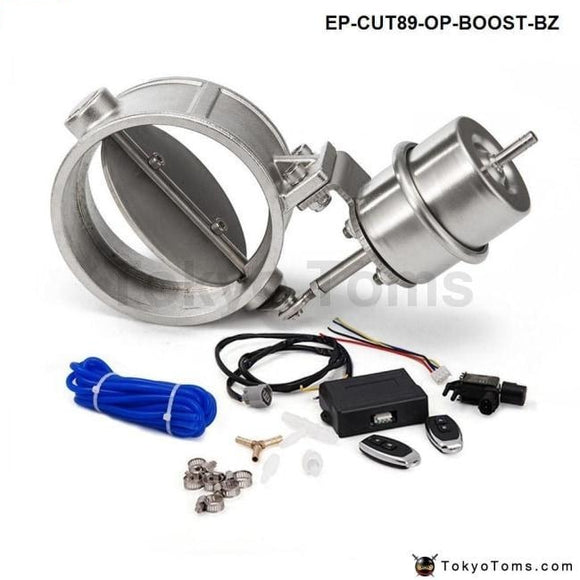 Exhaust Control Valve With Boost Actuator Cutout 89Mm Pipe Opend Wireless Remote Controller Set