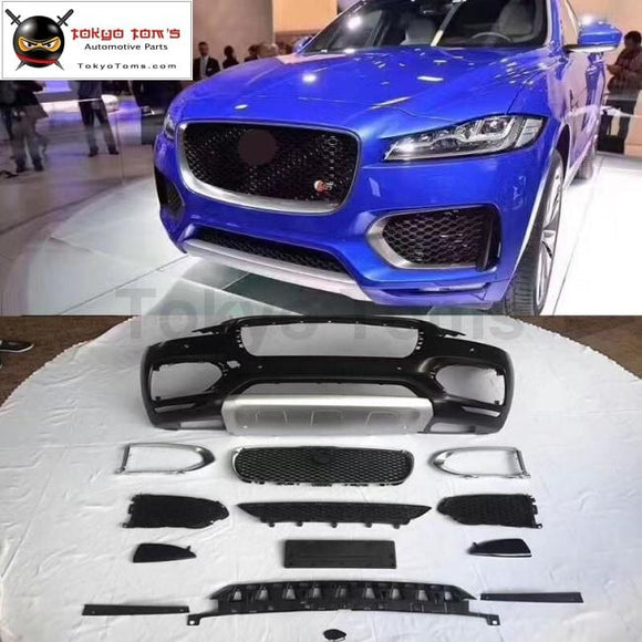 F-PACE Car body kit FRP Upainted Front bumper racing grills for Jaguar  F-PACE Low to High version 2017