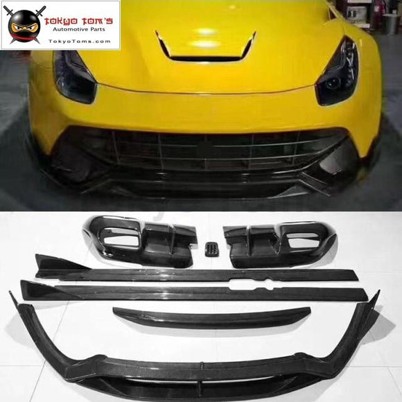 F12 DMC style Carbon fiber front bumper lip rear bumper diffuser Side skirts rear spolier for Ferrari F12 DMC Car body kit 2013
