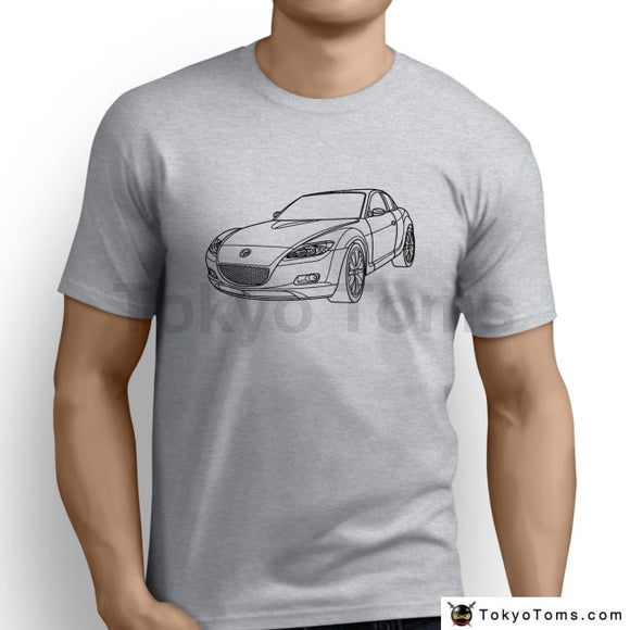 Fashion New Top Tees Tshirtsjapanese Car Inspired Car Art Mens Funny Harajuku Tshirt Clothing
