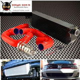 Fmic Black Aluminum Twin Intercooler With Hose Kit Black/blue/red Fits For Volkswagen Golf R Gti Mk7