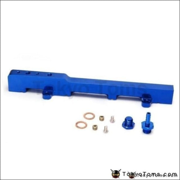 For Honda K-Series K20 Dc5 Ep3 Jdm Race Billet Aluminum High Flow Fuel Rail Assembly Blue Systems