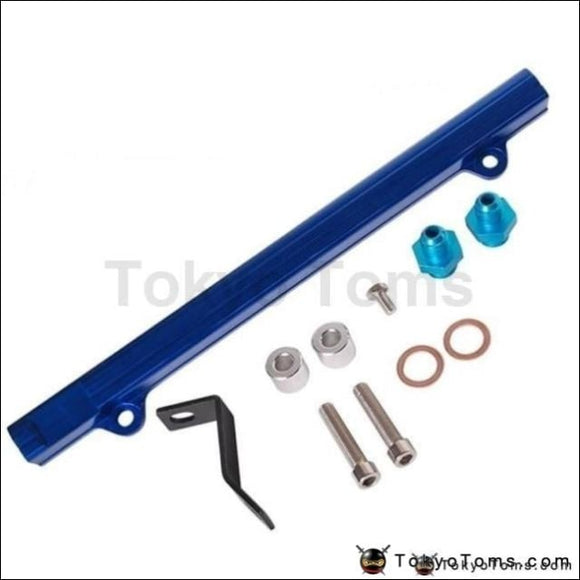 For Mitsubishi 4G63 Evo4/5/6 Aluminium Billet Top Feed Injector Fuel Rail Turbo Kit Blue High