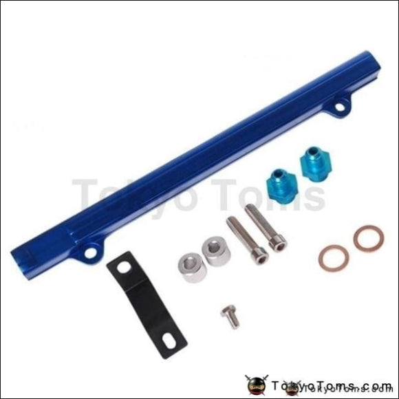 For Mitsubishi 4G63 Evo7/8/9 Aluminium Billet Top Feed Injector Fuel Rail Turbo Kit Blue High