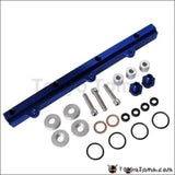 For Mitsubishi Evo123 Aluminium Billet Top Feed Injector Fuel Rail Turbo Kit Blue High Quality