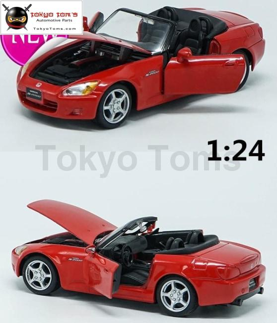 Freeshipping 1:24 Alloy Pull Back Model Car High Simulation Honda S2000 3 Open The Door Toy Vehicles