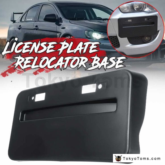 Front Bumper License Plate Frame Re-locator Base Mitsubishi Lancer GTS EVO X 2008-2018