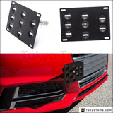 Front Bumper Tow Hook License Plate Mount Bracket Holder For Bmw Toyota Honda Vw Nissan Exterior
