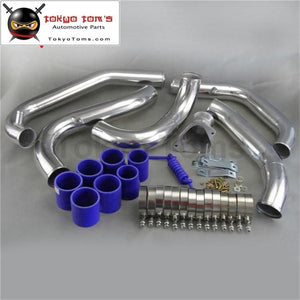Front Mount Intercooler Pipe Piping Kit F For Mazda Rx7 Rx-7 Fc Fc3S 13B 86-91 Black / Blue Red