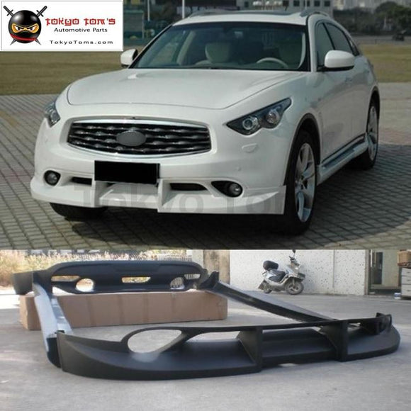 FX35 QX70 PU Unpainted Black Primer Auto Car Body kits front lip rear diffuser side skirts For Infiniti FX35 FX50 FX37 QX70