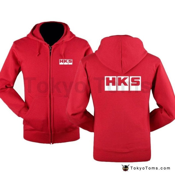 HKS zipper Hoodies