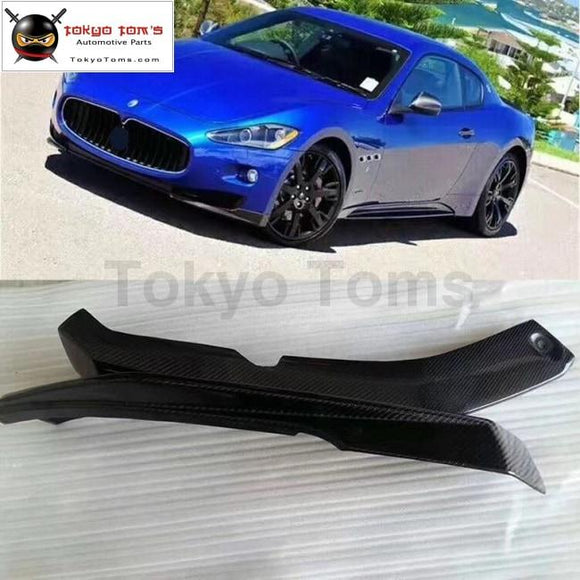 Hot sell Carbon fiber front lip splitter auto apron for Maserati GT Gran Turismo front bumper 09-14