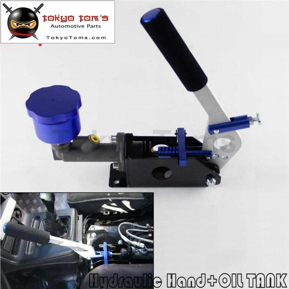 Hydraulic Hand Brake Pump 180Sx STI EVO Rx7 Horizontal Vertical + Oil Tank Blue
