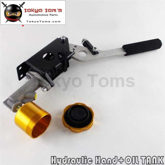 Hydraulic Hand Brake Pump 180Sx STI EVO Rx7 Horizontal Vertical + Oil Tank Gold