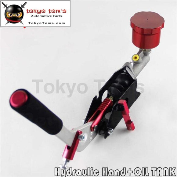Hydraulic Hand Brake Pump 180Sx STI EVO Rx7 Horizontal Vertical + Oil Tank Red