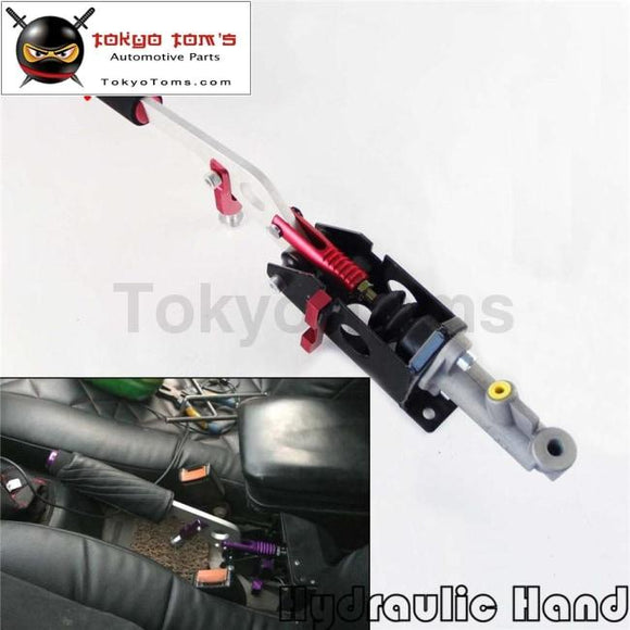 Hydraulic Hand Brake With Pump 180Sx STI EVO Rx7 Drift Horizontal Vertical Red