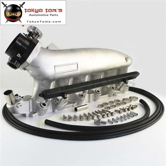 Intake Manifold +Fuel Rail &90-80Mm Q45 Throttle Body Fits For Nissan Skyline R32 R33 Rb25 Rb25Det