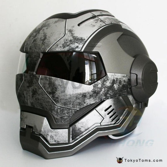 MASEI Iron Man helmet Bright Gray