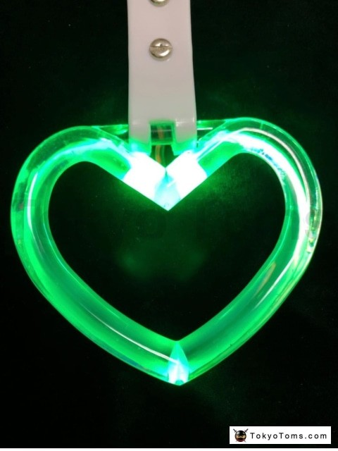 LED Hang Rings by Tokyo Toms - Green Heart