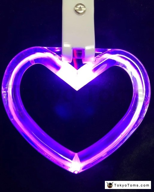 LED Hang Rings by Tokyo Toms - Purple Heart