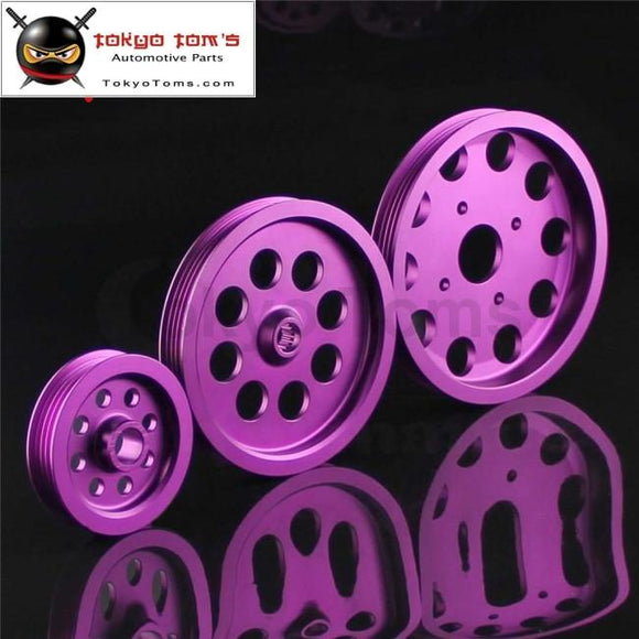 Light-Weight Crank Pulley For Nissan Skyline GTs GTR Rb20 Rb25 Rb26 Pulley Purple