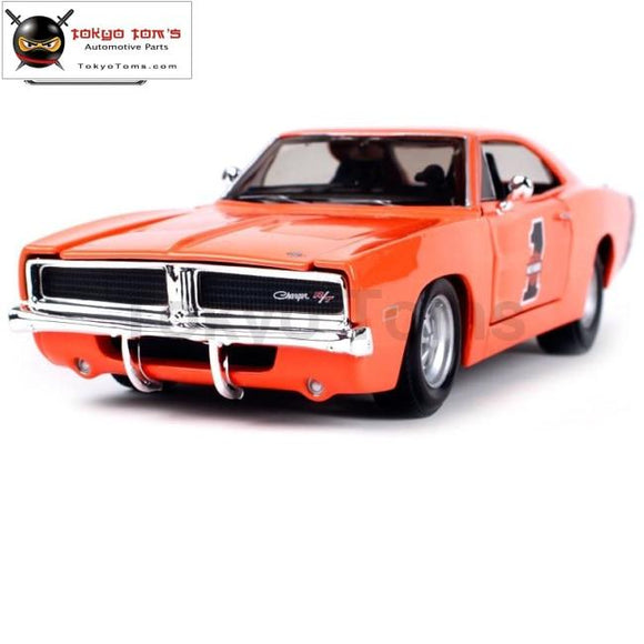 Maisto 1:25 Harley 1969 Dodge Charger R/t Modern Muscle Involving Cars Old Car Diecast Model Toy New