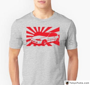 Men 2018 Summer Tops Tee Classic Japanese Car Fan Civic Japan Sun T-Shirt Tuner Type R Turbo Casual
