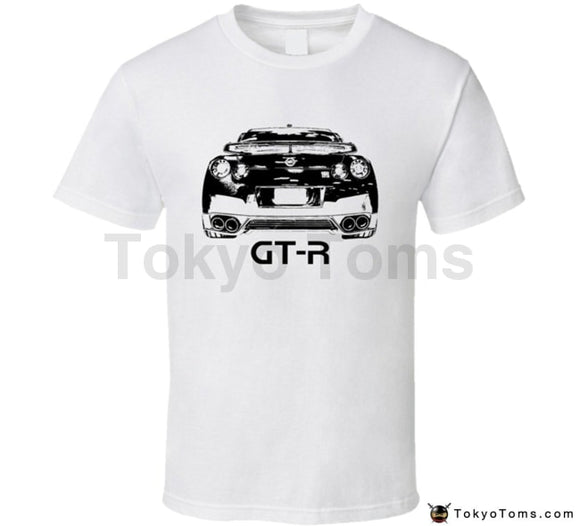 Mens T-Shirts Summer Style Fashion Swag Men Hot Sale 2013 Gt-R Rear View With Model Light Color T
