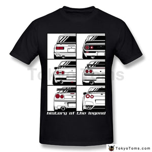 Mens T-Shirts Summer Style Fashion Swag Men Hot Sale Ffj Awesome Gtr Car T Shirt Man Round Collar