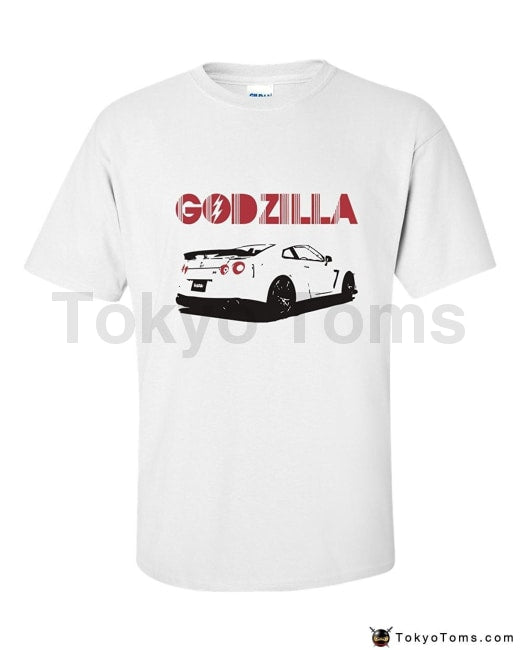 Mens T-Shirts Summer Style Fashion Swag Men Hot Sale Godzilla Gtr Tshirt - Clothing