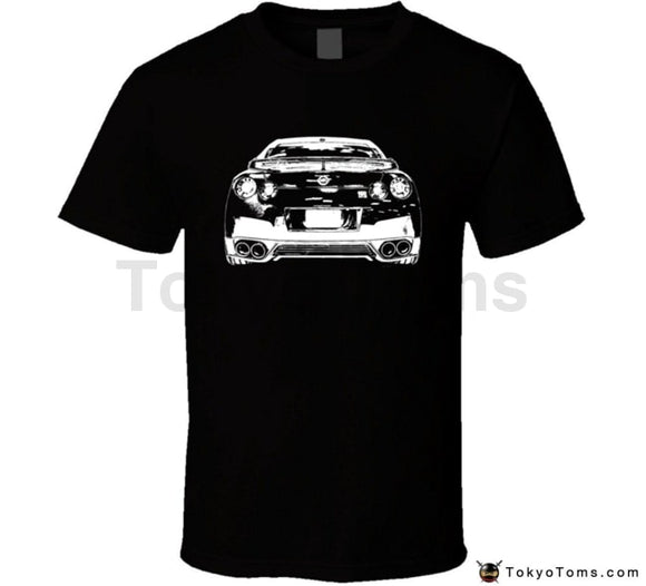 Mens T-Shirts Summer Style Fashion Swag Men Hot Sale Gt-R Rear View Dark Color T Shirt Clothing