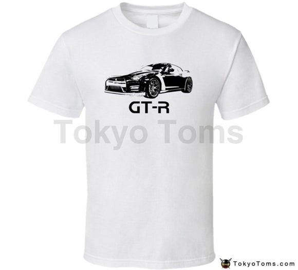 Mens T-Shirts Summer Style Fashion Swag Men Hot Sale Gt-R Side View With Model Light Color T Shirt
