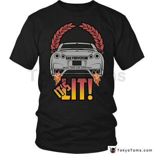 Mens T-Shirts Summer Style Fashion Swag Men Hot Sale Its Lit! Japanese Car Fans Gtr Exhaust Flames