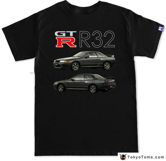 Mens T-Shirts Summer Style Fashion Swag Men Hot Sale Japanese Car Fans Mens Gtr R32 T Shirt Clothing