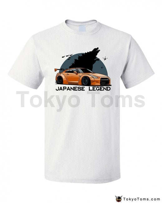 Mens T-Shirts Summer Style Fashion Swag Men Hot Sale Japanese Car Fasn Gtr Godzilla Legend Tshirt