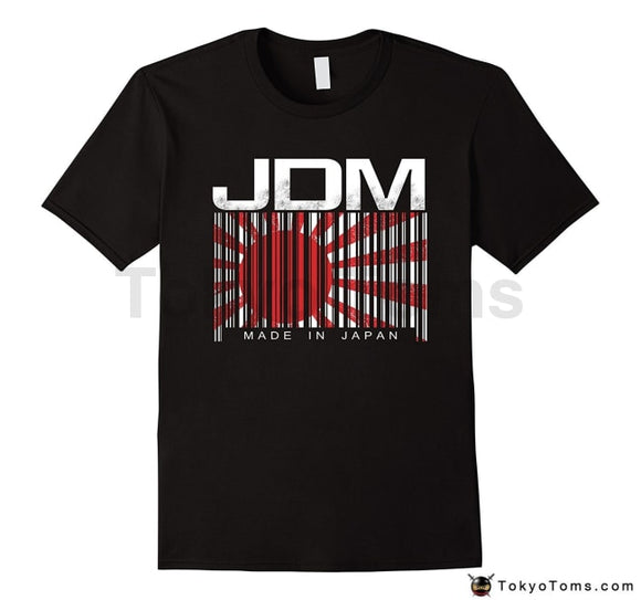 Mens T-Shirts Summer Style Fashion Swag Men Hot Sale Jdm Barcode Made In Japan Motorsport Mens Shirt