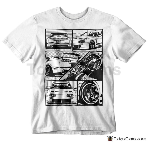 Mens T-Shirts Summer Style Fashion Swag Men Hot Sale Styln Japanese Car Fans Fragment T-Shirt