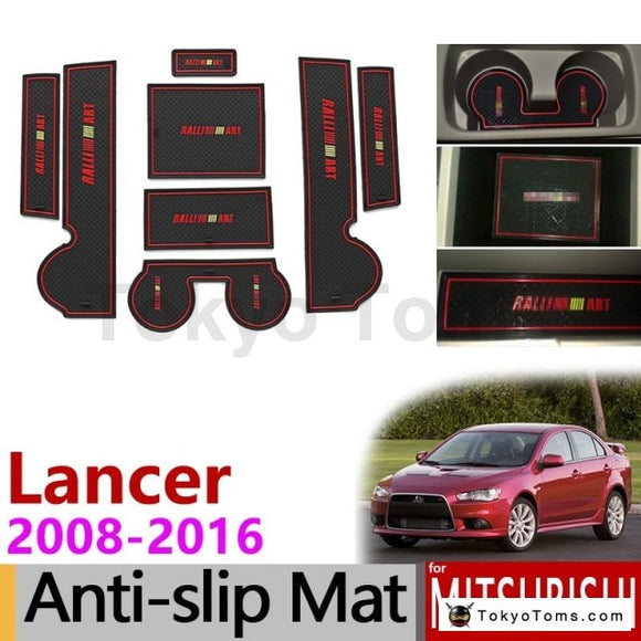 Mitsubishi Lancer 2008 - 2016 Ralliart EVO X Anti-Slip Gate Slot Mat Rubber Cup