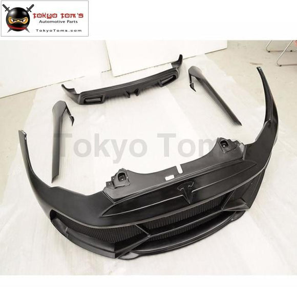 MODEL S FRP Car Body Kits Front Bumper Side Skirts Rear diffuser For Tesla MODEL S 2014 2015