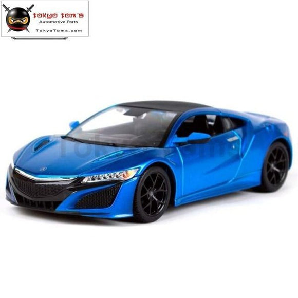 New Arrival Maisto 1:24 2018 Acura Nsx Car Diecast Model Red Blue Collecting Boy Gifts Toys Original