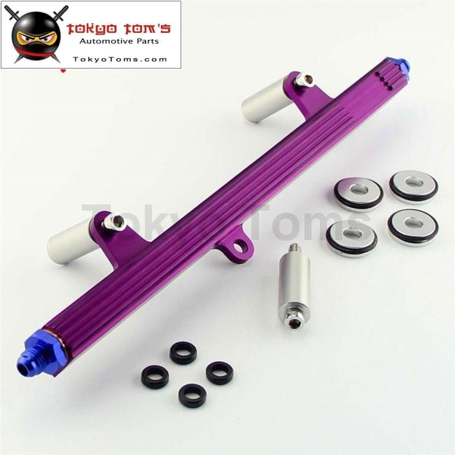 New Top Feed Injector Billet Fuel Rail Fit For 240Sx S13 Sr20 Sr20Det  Silvia Purple