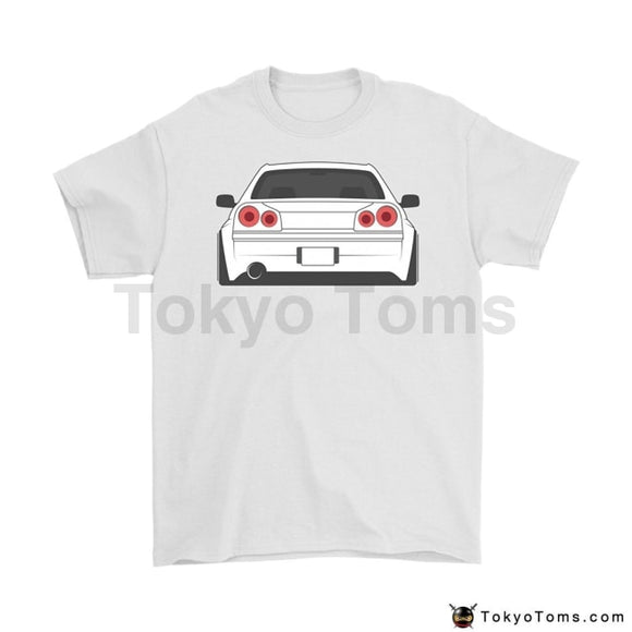 Newest 2018 Men T-Shirt Fashion Skyline R34 Gtr Jdm Tuner T Shirt Color - White O Neck Tee Short