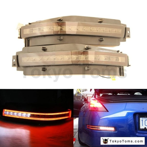 Nissan 350Z Smoke Tinted Clear Lens All-in-one Led Turn Signal Backup Reverse Brake Light Assembly