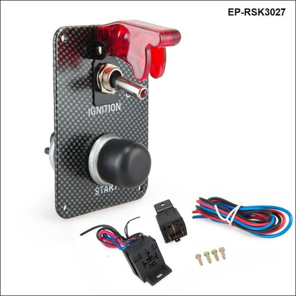 Performance Starter Push Button Red Safety Cover Panel Switch Kit For Racing Switches