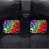 Custom Rainbow Hearts Floor Mats