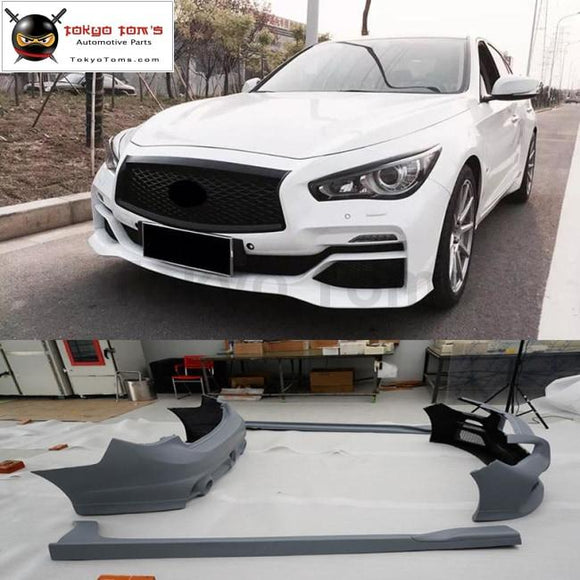 Q50 Eau styling FRP front bumper rear bumper side skirts for infiniti Q50 car body kits 2014UP